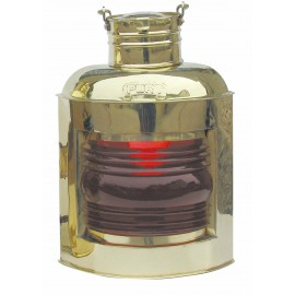 Port Lamp, brass, with petroleum burner, H: 30cm