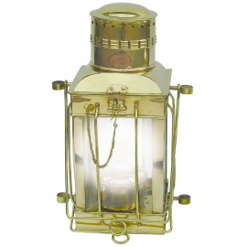 Cargo Lamp, brass, electric 230V, H: 38cm