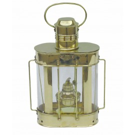 Ship's Lamp, brass, with petroleum burner, H: 27cm