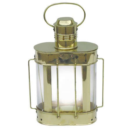 Ship's Lamp, brass, electric 230V, H: 27cm