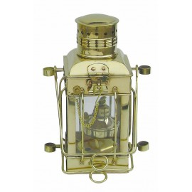 Cargo Lamp, brass, with petroleum burner, H: 25cm