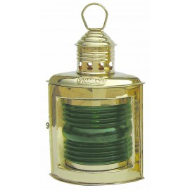 Starboard Lamp, brass, with petroleum burner, H: 23cm