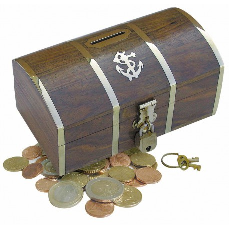 Wooden coin box - treasure