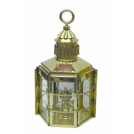 Clipper Lamp, brass, with petroleum burner, H: 57cm