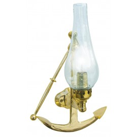 Wall hanging lamp - Anchor, brass lacquered, electric 230V, E14, 21,5x35x15cm