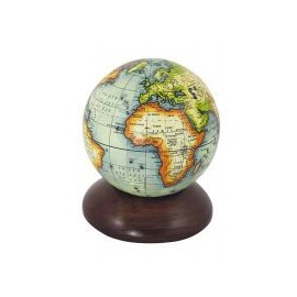 Globe ball on wooden stand