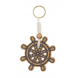 Keyring - Ship wheel, floatable