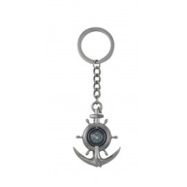 Keyring - Anchor/Wheel with compass