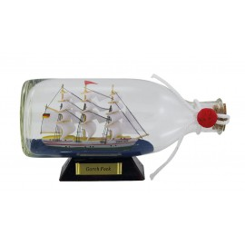Bottle-ship - Gorch Fock, L: 16cm