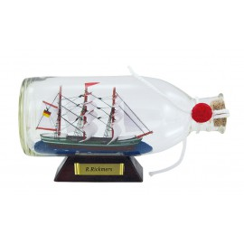 Bottle-ship - R.Rickmers, L: 16cm