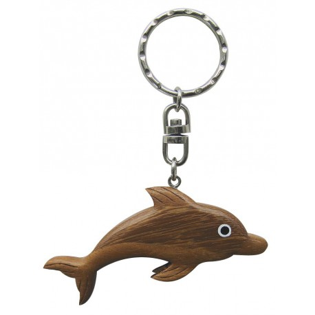 Keyring - Dolphin, wood