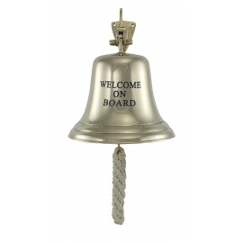 Ship's bell - WELCOME ON BOARD, Ø: 15cm