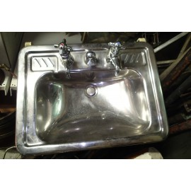 Stainless Steel Ship's Sink 1954