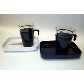 Coffee Set for Two, Marine Navy
