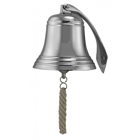 Ship's Bell, nickel plated brass, Ø: 17,5cm