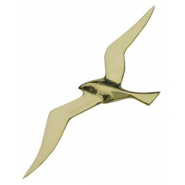 Wall hanging seagull, brass, 30cm