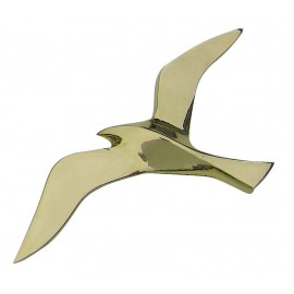 Wall hanging seagull, brass, 25cm