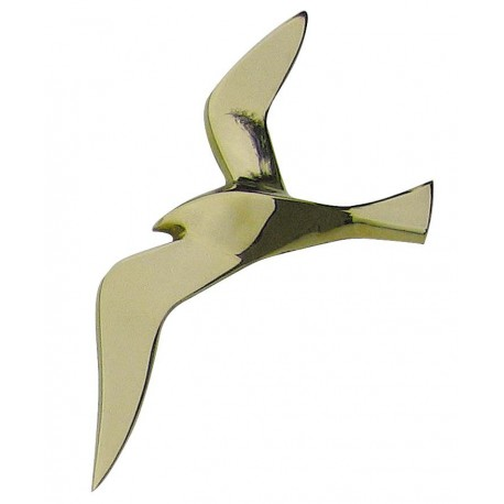 Wall hanging seagull, brass, 20cm