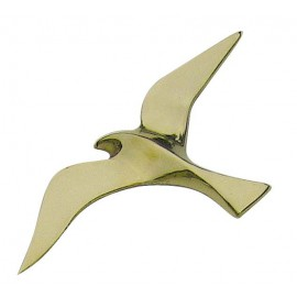 Wall hanging seagull, brass, 15cm