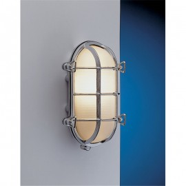 Bulkhead light, chrome, IP54
