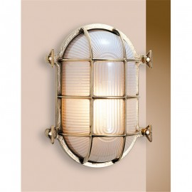 Bulkhead light, brass, IP54