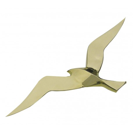 Wall hanging seagull, brass, 50cm