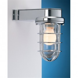 Chromed wall lamp, IP55