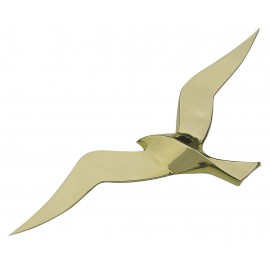 Wall hanging seagull, brass, 35cm