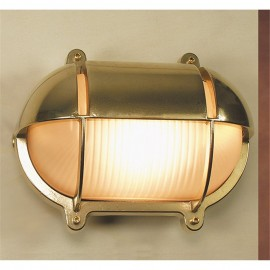 Brass shadowed bulkhead lamp, IP54