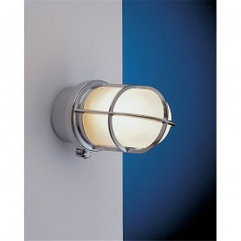 Chrome bulkhead lamp, IP44
