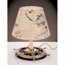 Table lamp with steering wheel