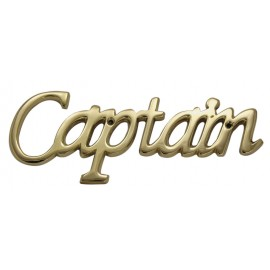 Door name plate - Captain, brass, 18x7x0,5cm