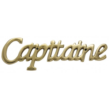 Door name plate - Capitaine, brass, 20x6,5x0,5cm