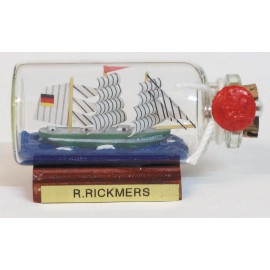 Bottle-ship - RICKMER RICKMERS, mini, L: 6cm