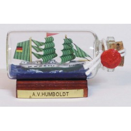 Bottle-ship - A.v.HUMBOLDT, mini, L: 6cm