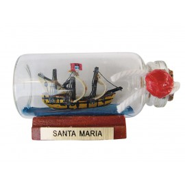 Bottle-ship - SANTA MARIA, mini, L: 6cm