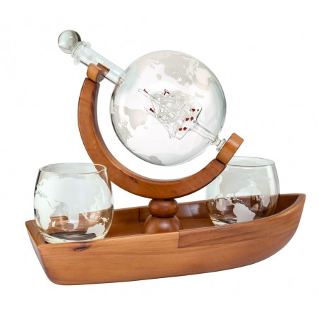 Glass flask decanter