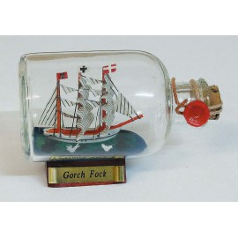 Bottle-ship - Gorch Fock, L: 9cm
