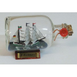 Bottle-ship - Rickmer Rickmers, L: 9cm