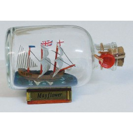 Bottle-ship - Mayflower, L: 9cm