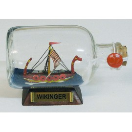 Bottle-ship - Wikinger, L: 9cm
