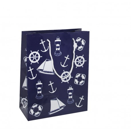 Gift bag, paper lacquered, 18x23x8cm