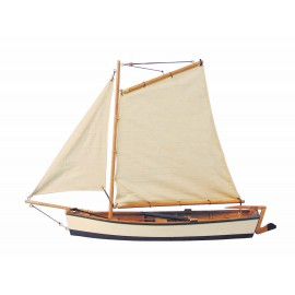 Fishing Boat with sails, wood, L: 45cm, H: 32cm