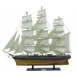 Sailing ship - Cutty Sark, wood with cloth sails, L: 100cm, H: 90cm