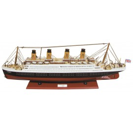Ship's model - Titanic, wood, L: 80cm, H: 29cm