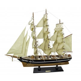 Sailing ship - Cutty Sark, wood with cloth sails, L: 55cm, H: 50cm