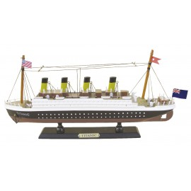 Ship model - Titanic, wood, L: 35cm, H: 16cm