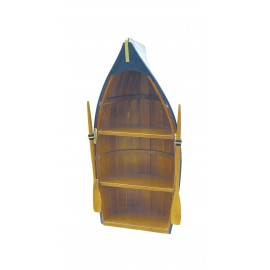 Boat shelf, wood, parts painted, 3 cases, 60x30x18cm