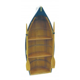 Boat shelf, wood, parts painted, 3 cases, 90x39x22cm
