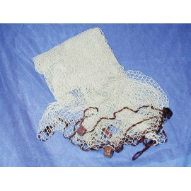 Decorative fishing net, natural colour, w/swimmers, 250x250cm